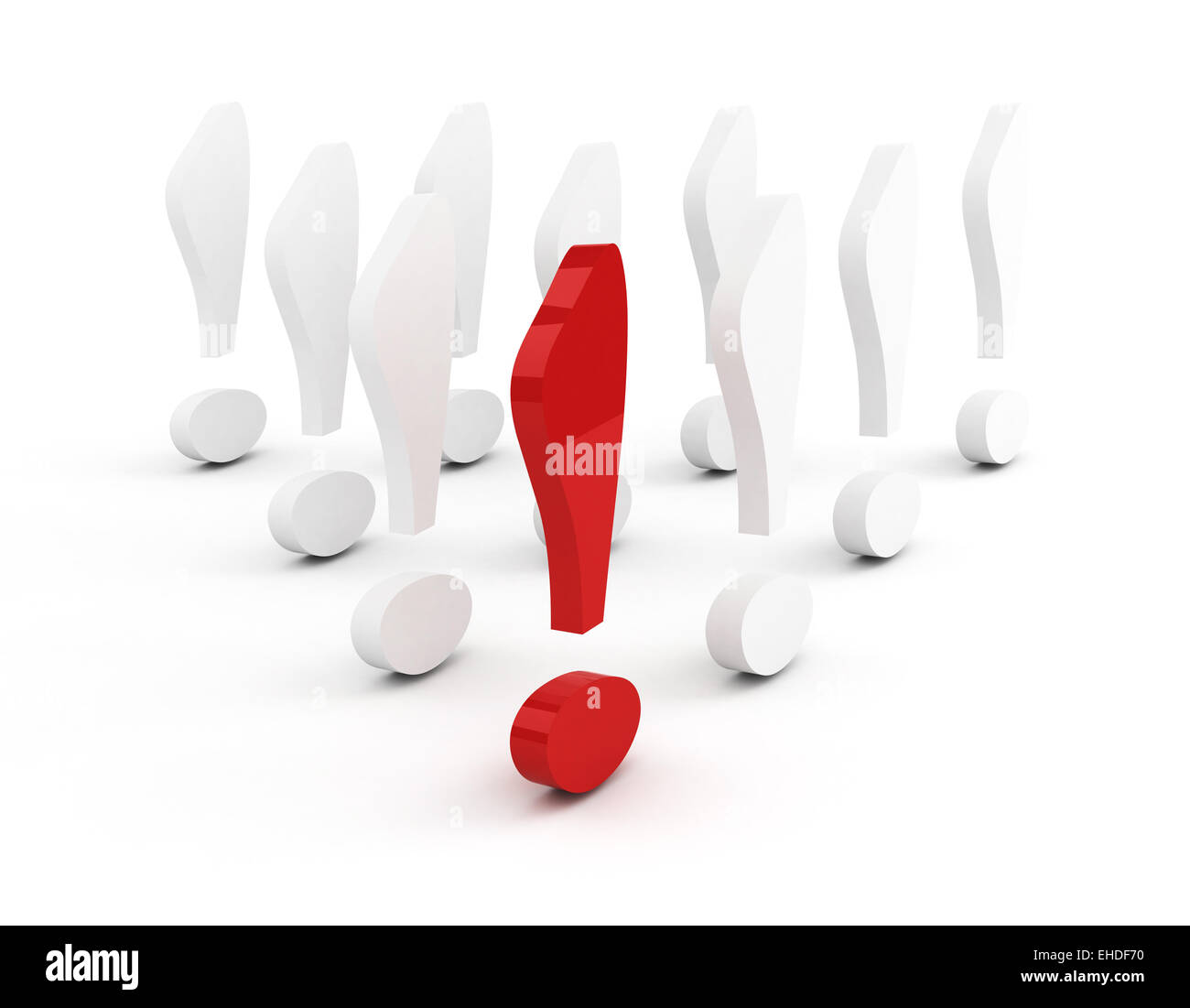 exclamation mark leadership concept - Stock Image