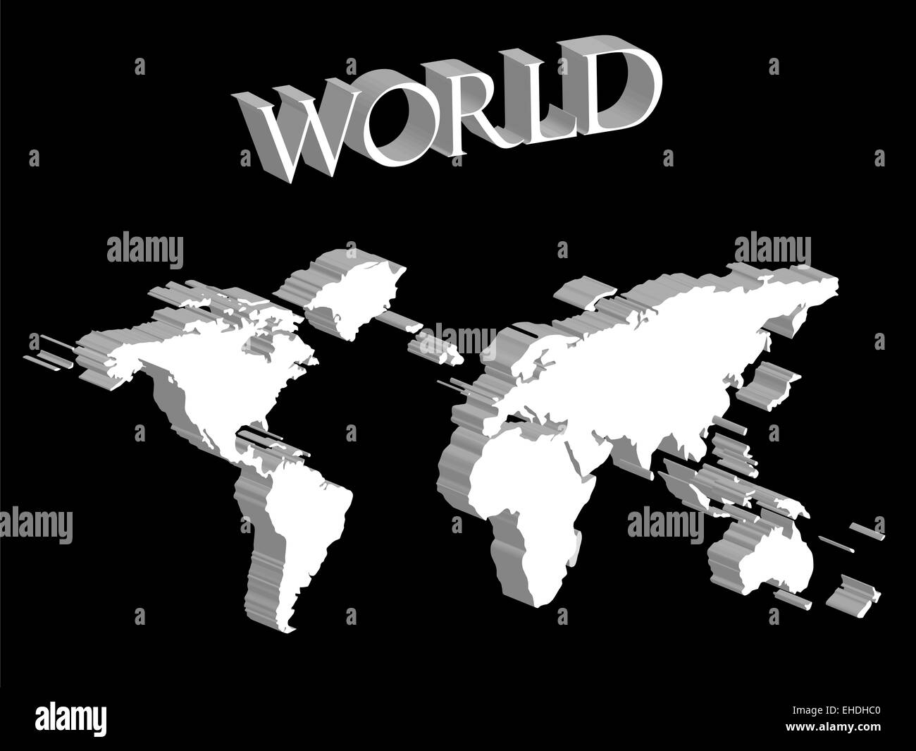 World map black and white countries stock photos world map black white world map expanded on black background stock image gumiabroncs Image collections