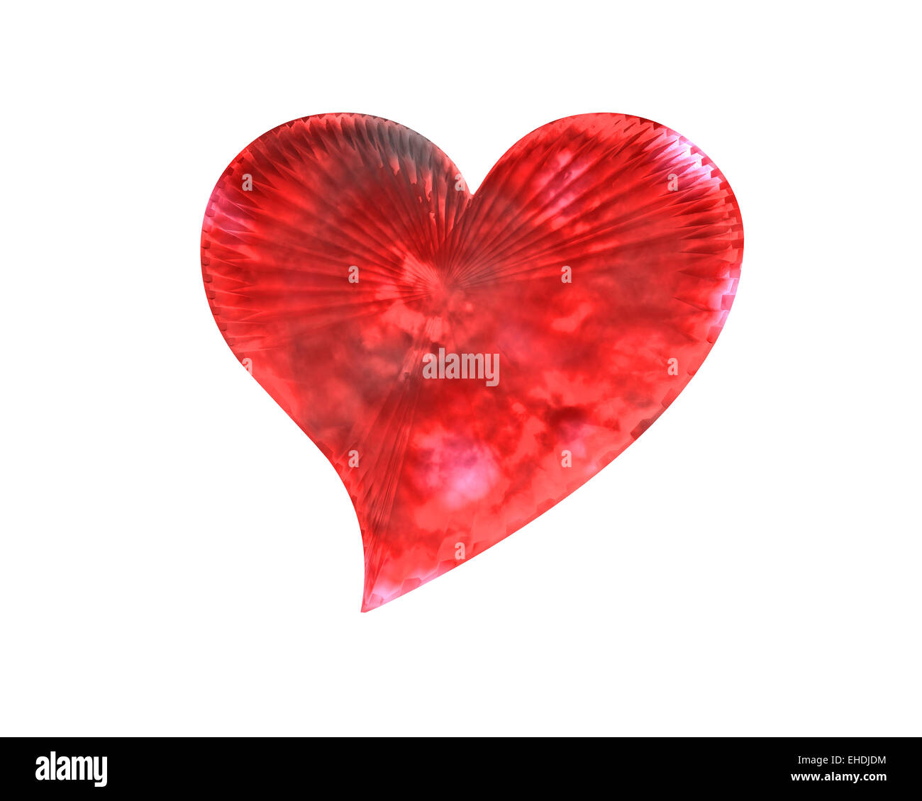 red icy heart - Stock Image