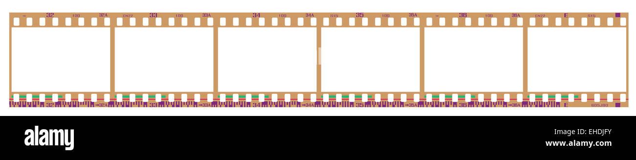 negative filmstrip frames Stock Photo