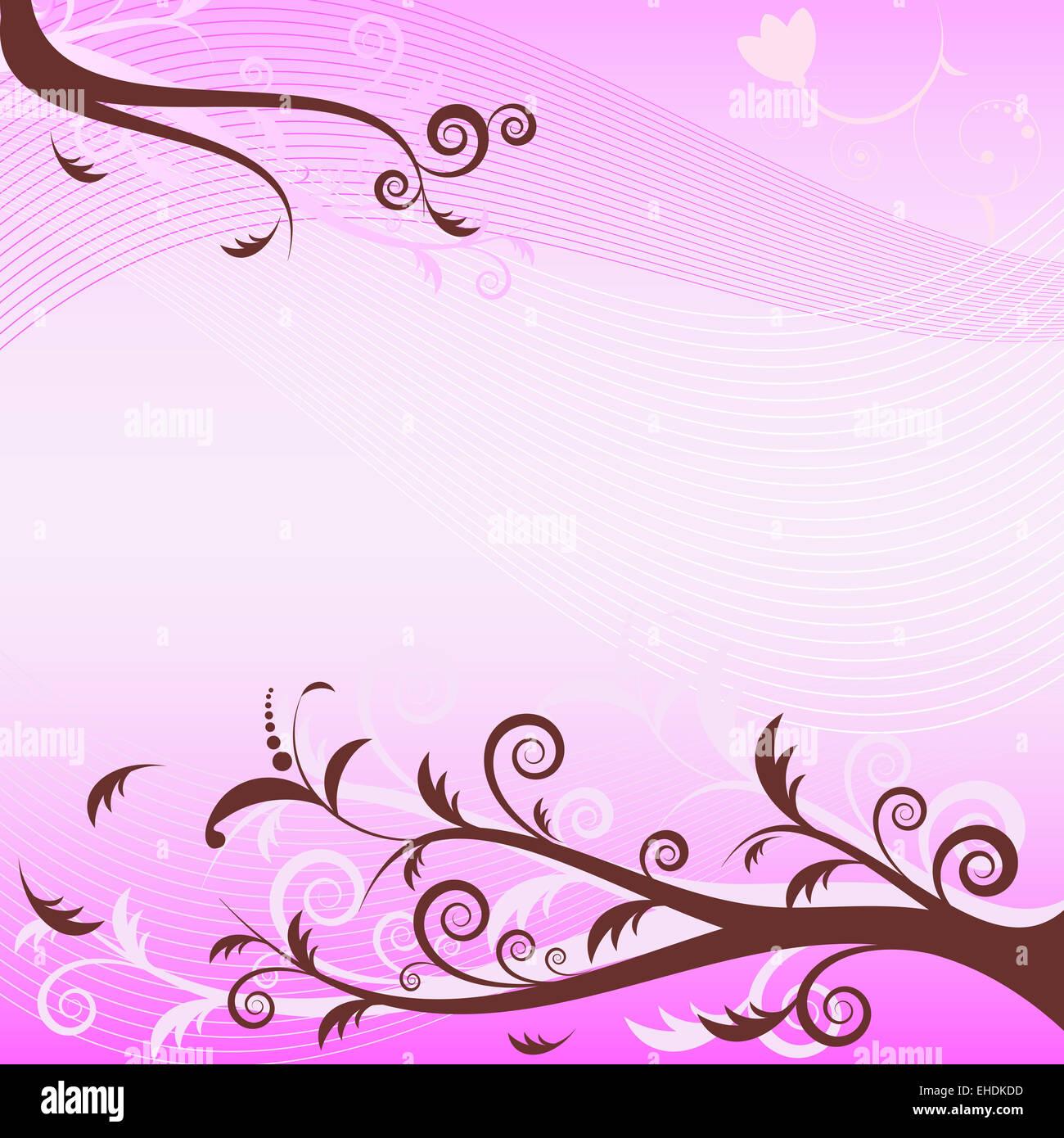 Gentle pink background - Stock Image