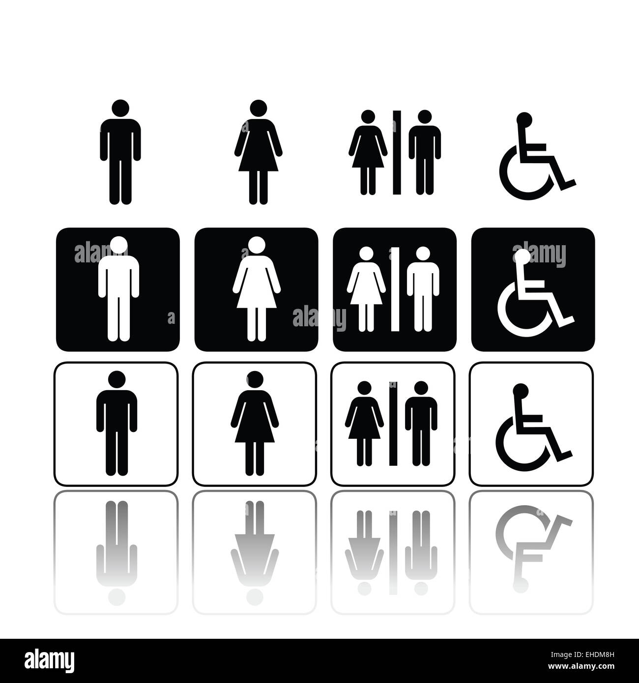 Toilet Signs Men Women Stock Photos Toilet Signs Men Women Stock