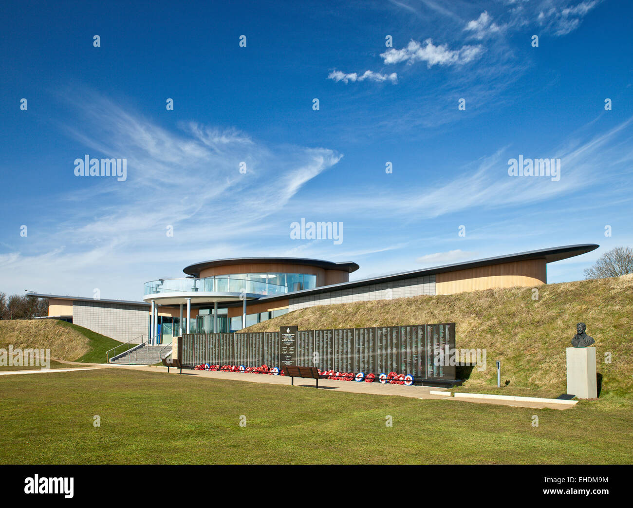 Battle of Britain National Memorial, and new visitor center The Wing . Capel-le-Ferne - Stock Image