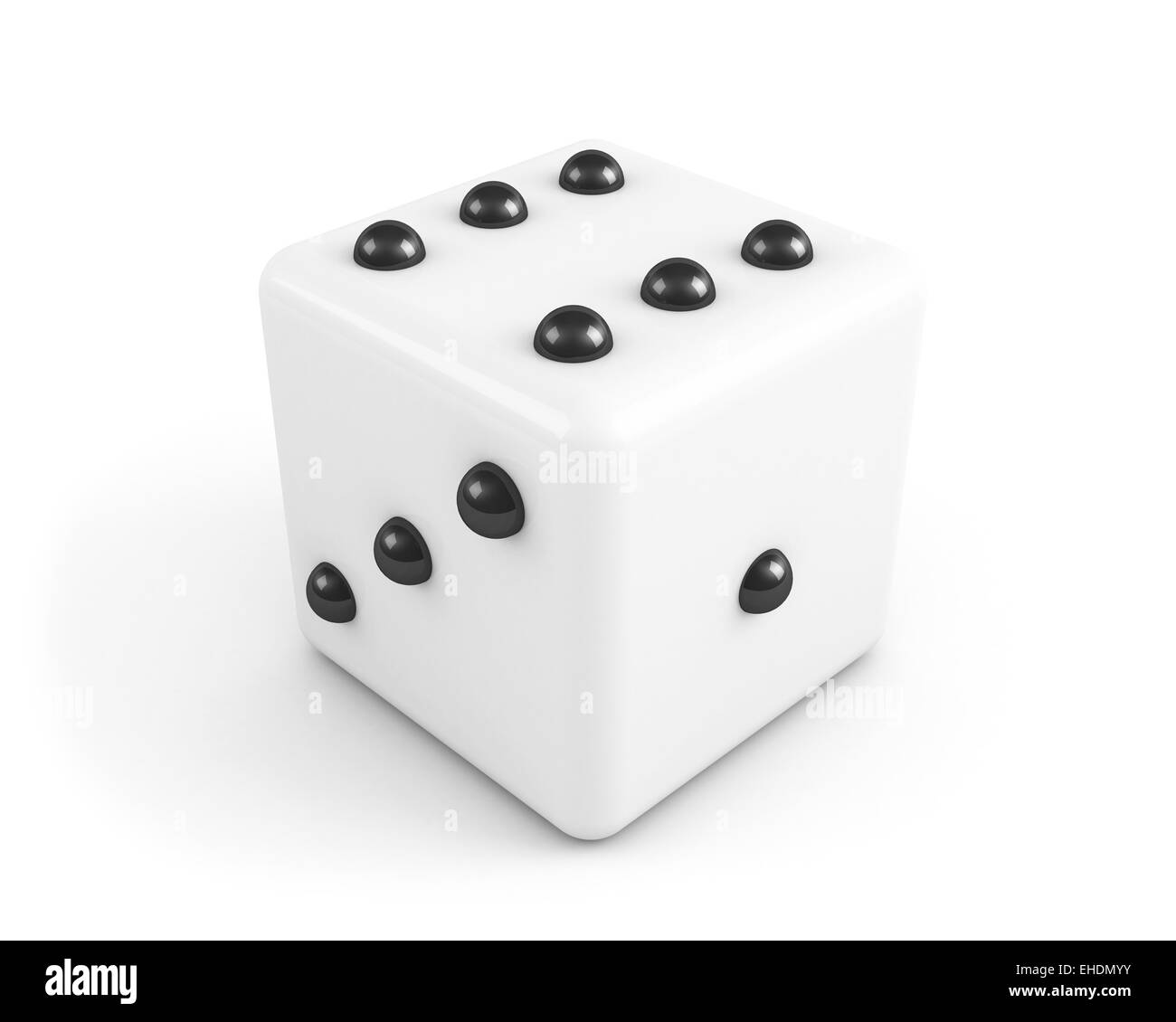 dice with black dots - Stock Image