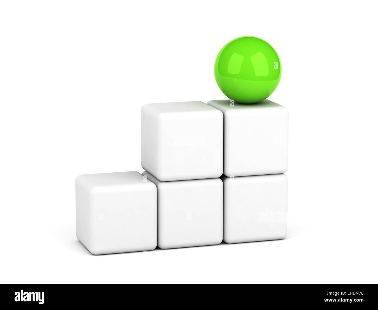 bright green sphere leadership concept Stock Photo