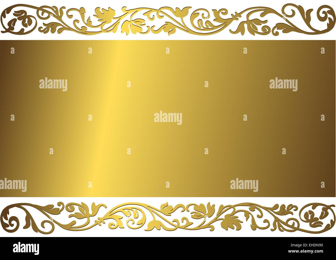 Gentle golden frame - Stock Image