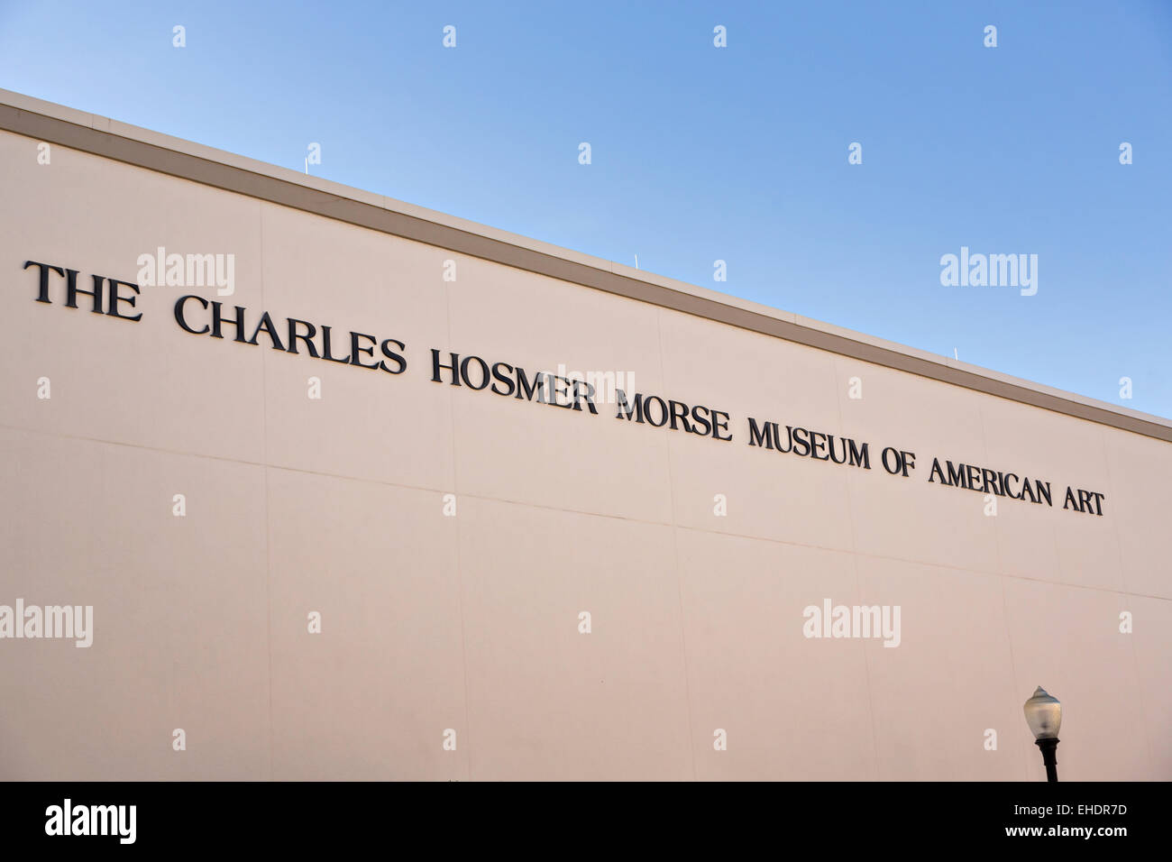 The Charles Hosmer Morse Museum in historic downtown Winter Park, Florida. - Stock Image