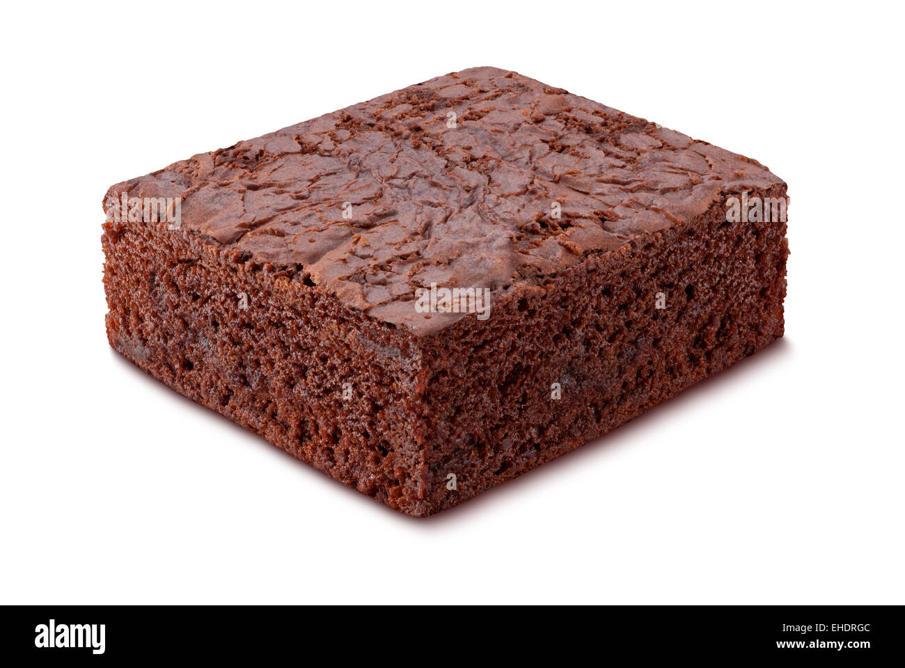 Chocolate Brownie isolated on white - Stock Image