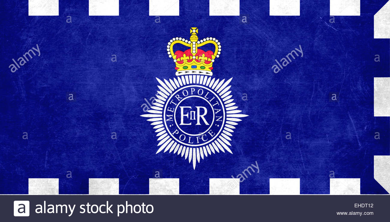 Metropolitan Police flag banner icon - Stock Image