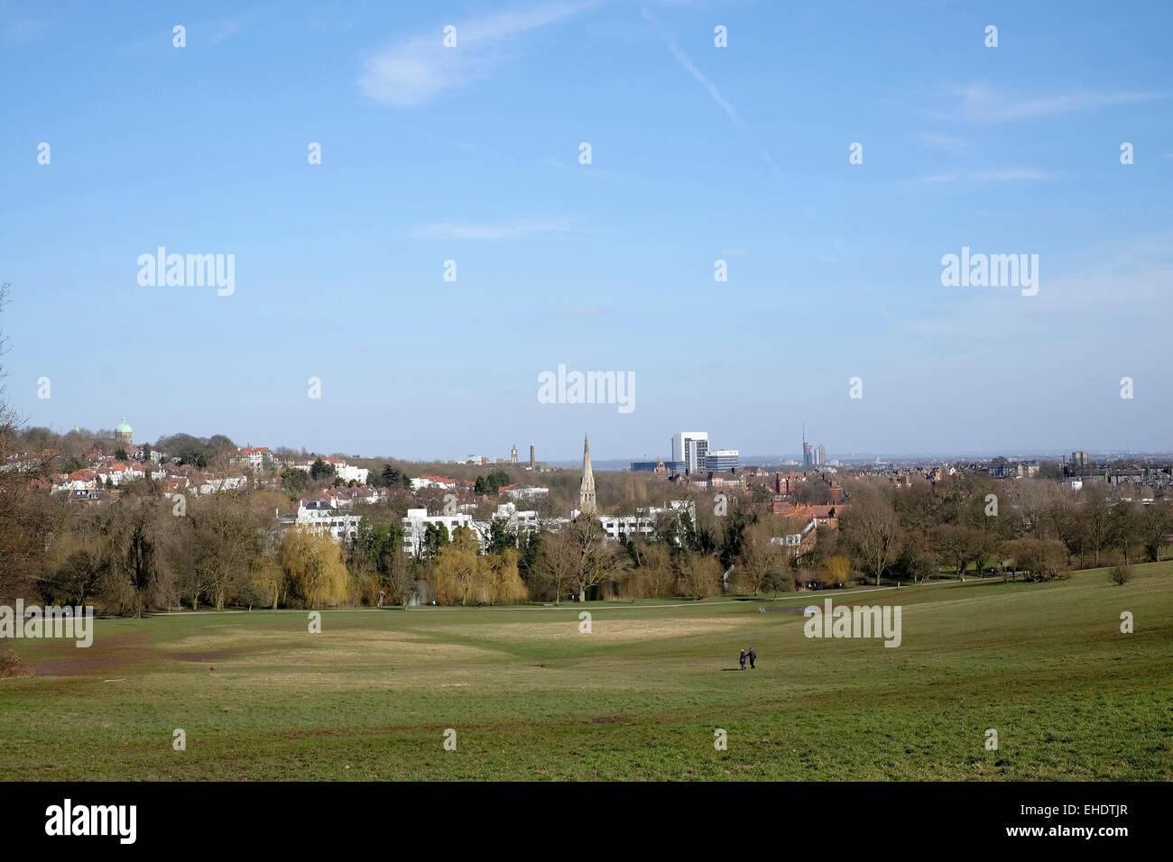 A view of Highgate from Hampstead Heath - Stock Image