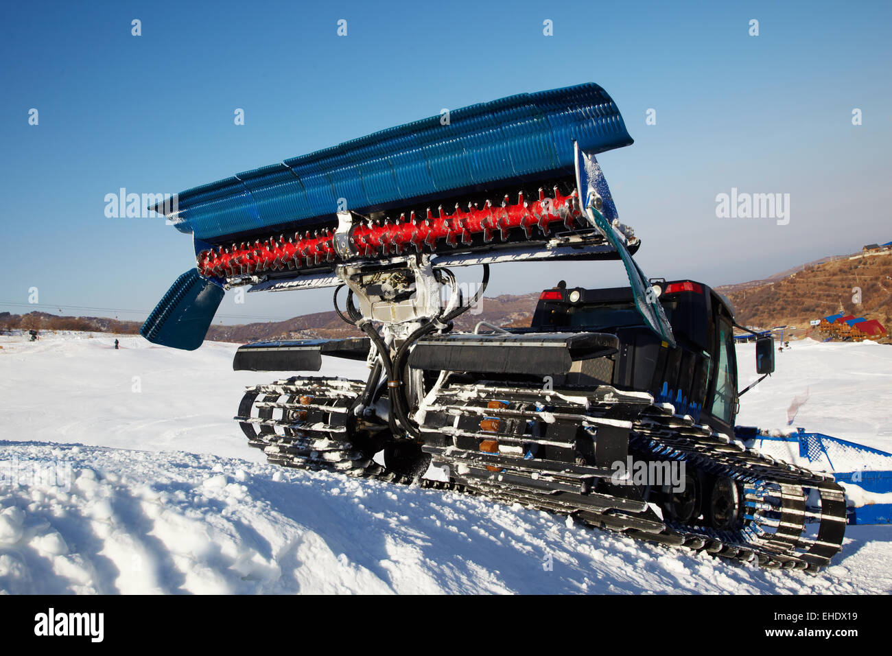Piste machine (snow cat) - Stock Image