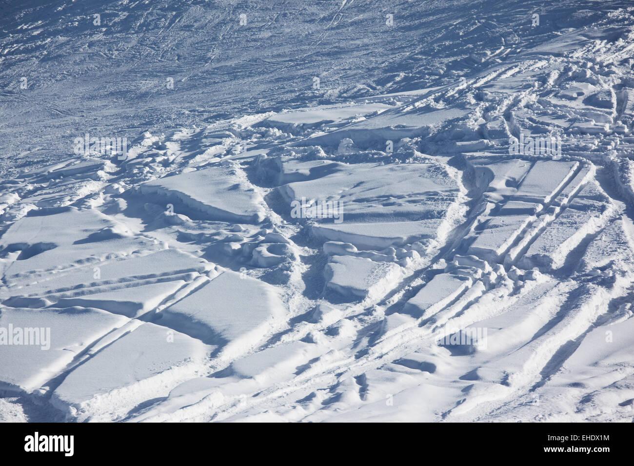 Ski slope background Stock Photo