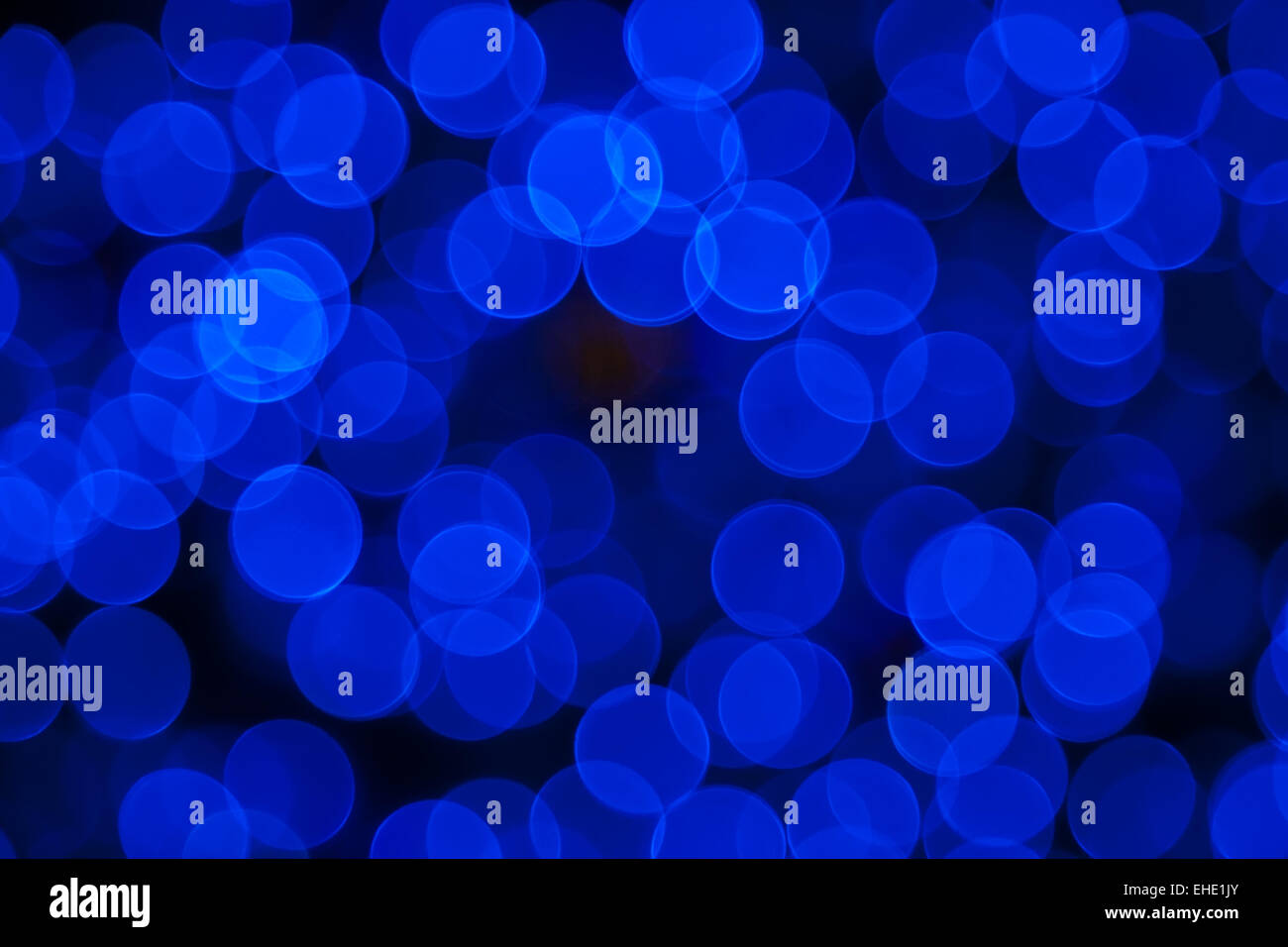 Blue abstract lights background - Stock Image