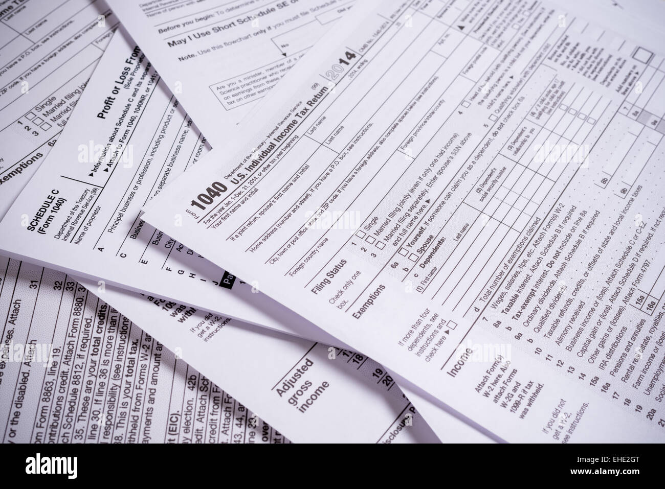 1040 Tax Form Stock Photos 1040 Tax Form Stock Images Alamy