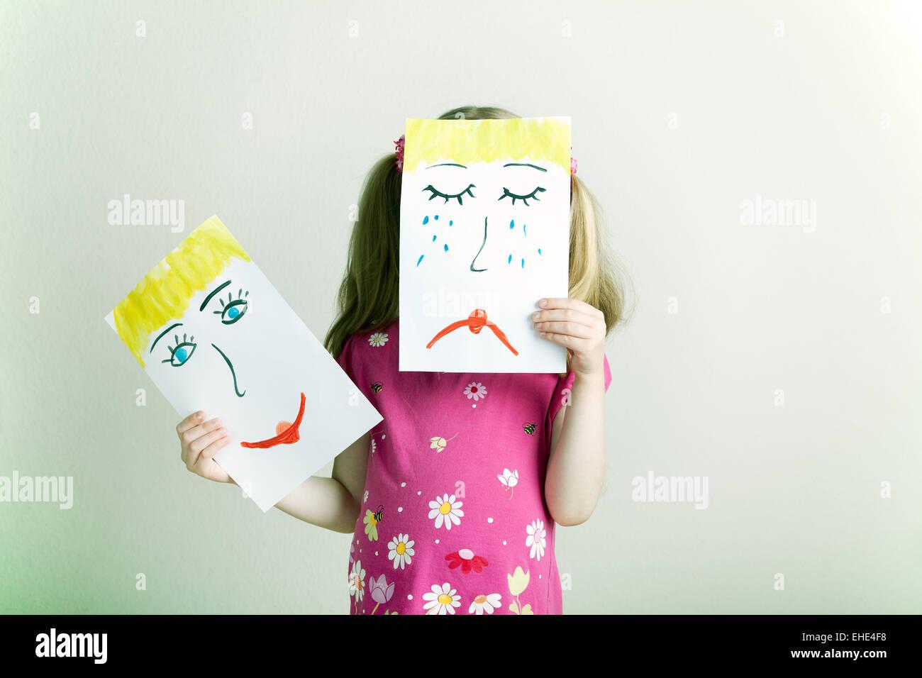 Wechselnde Gefühle - Stock Image