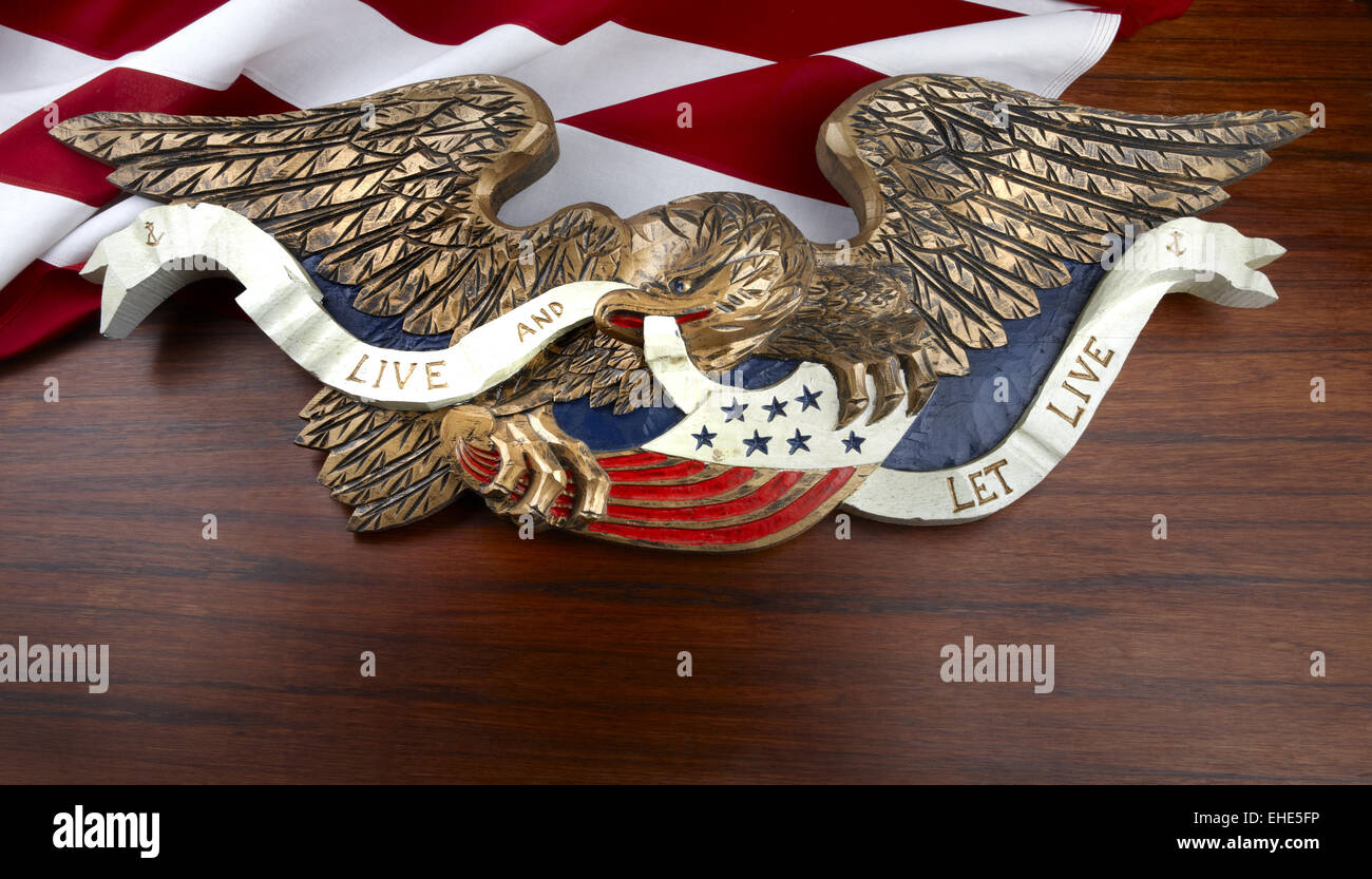 Carved American Eagle High Resolution Stock Photography and Images - Alamy