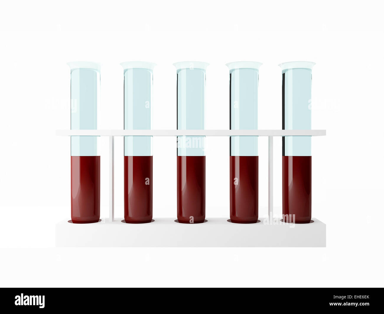 Blood Test tube - Stock Image