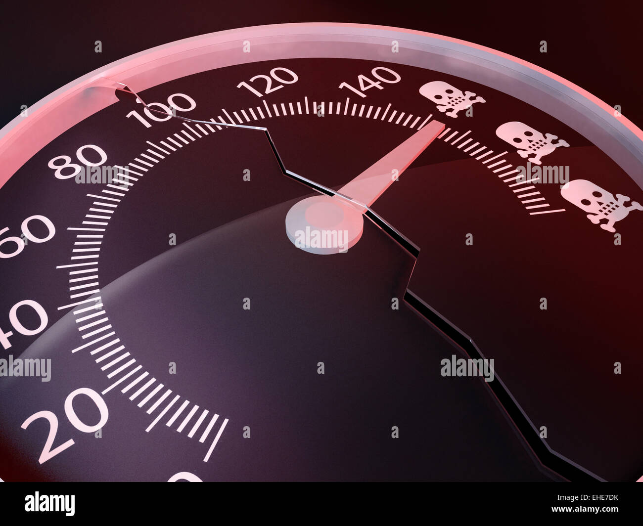 Exceed the speed limits kills - Stock Image
