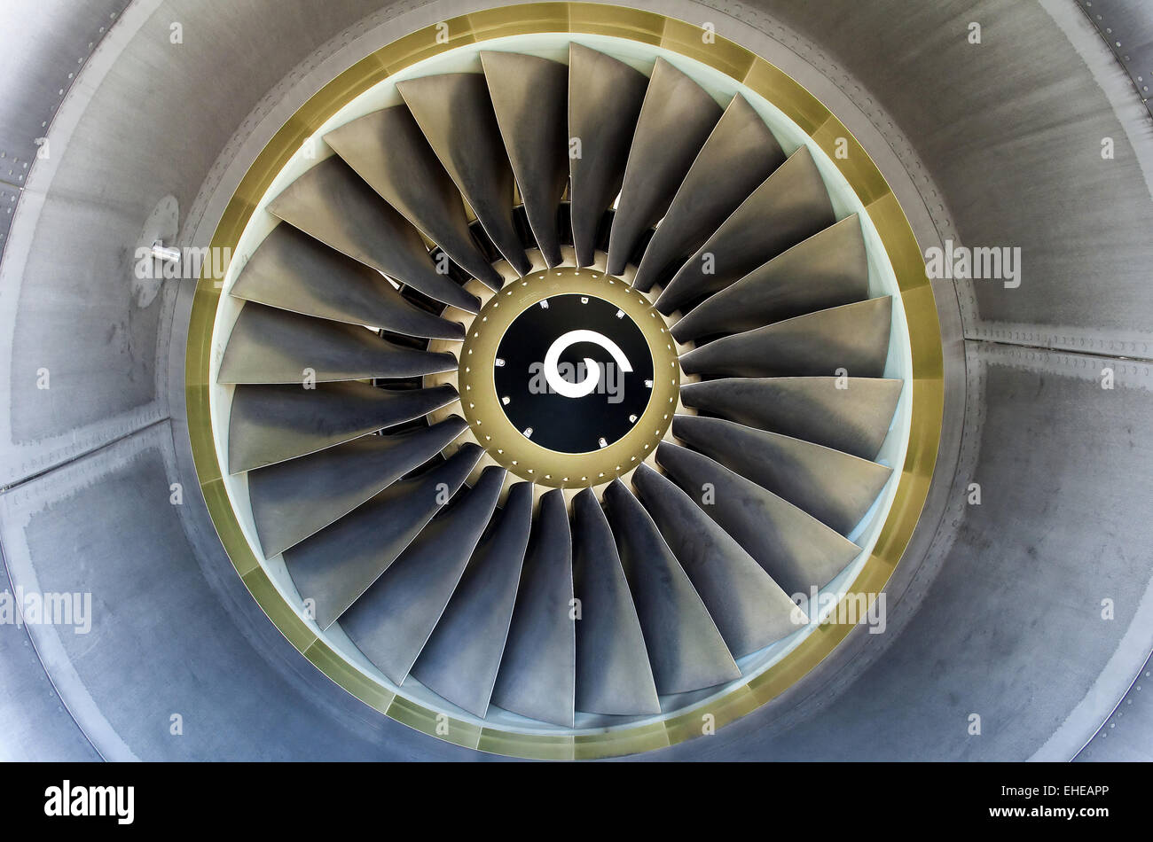 Jet engine detail. - Stock Image