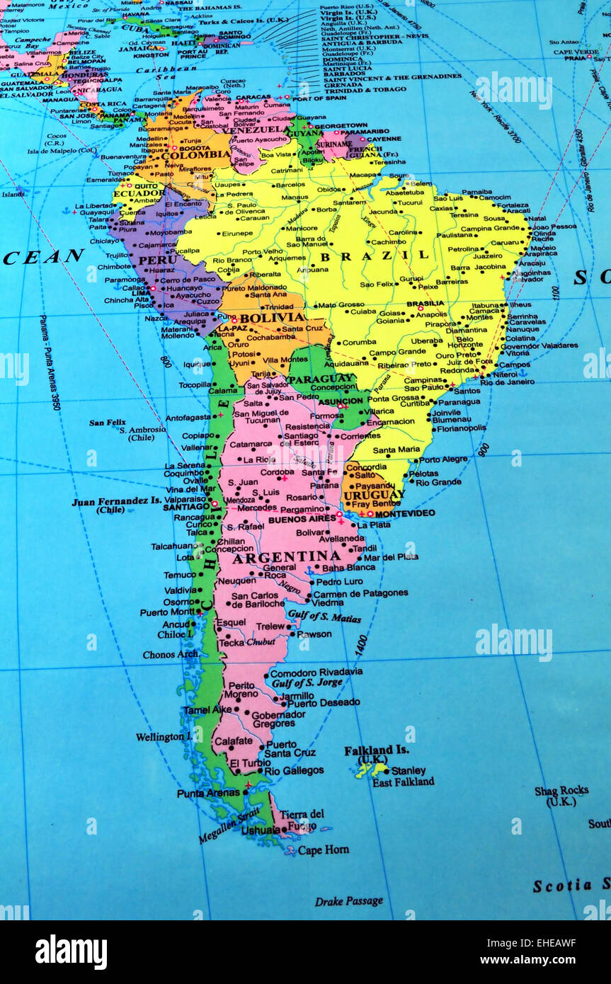 America Map.South America Map Stock Photo 79606507 Alamy