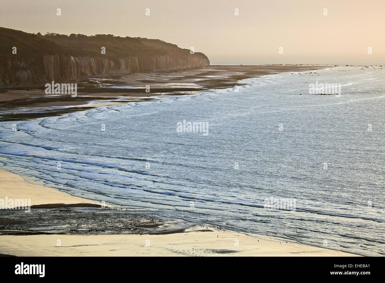 coast of Quiberville, Normandy, France - Stock Image