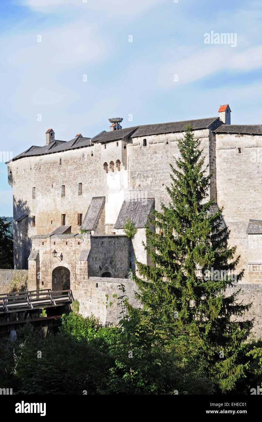 Tittmoning castle Stock Photo