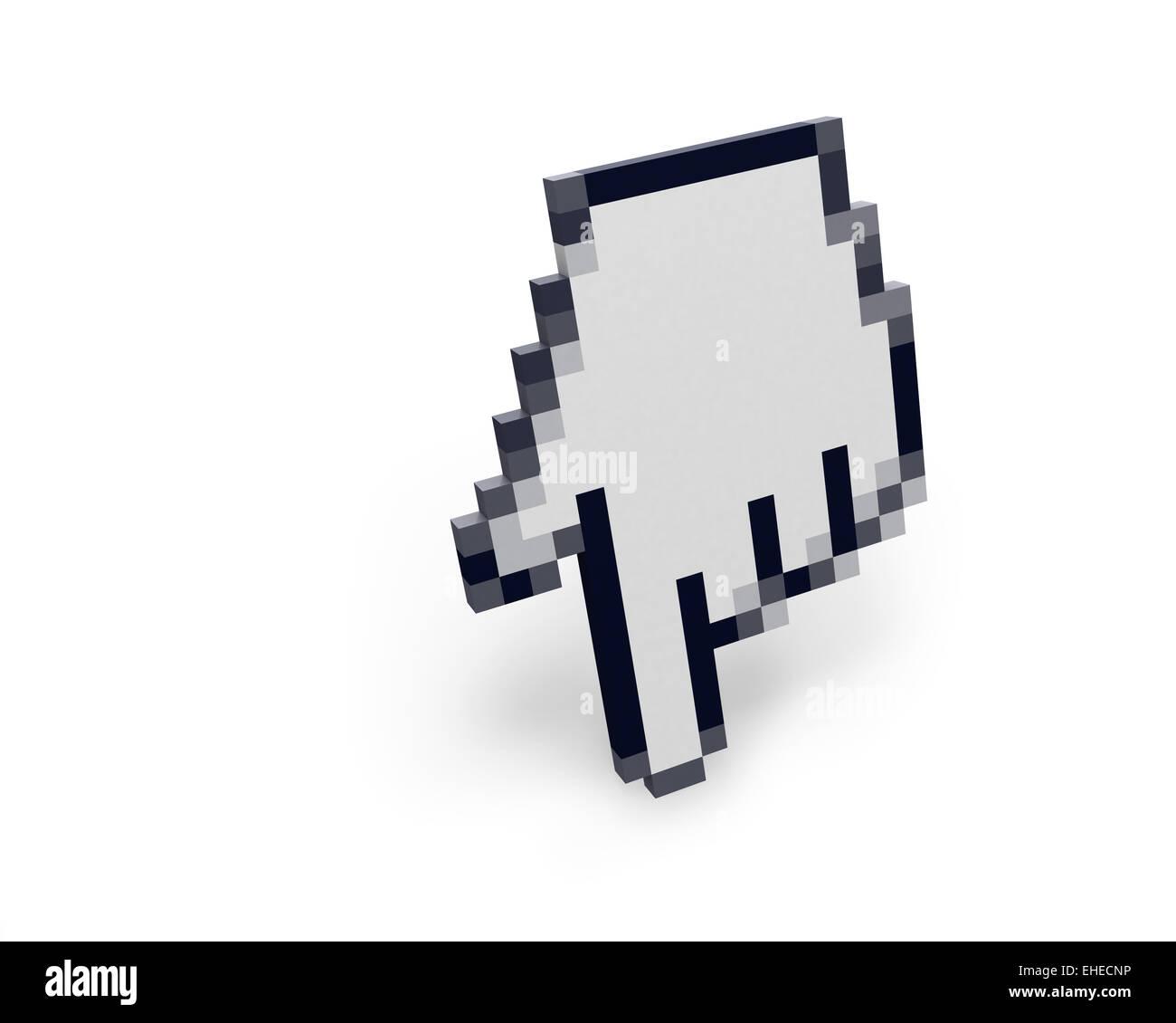Hand cursor standing left view - Stock Image