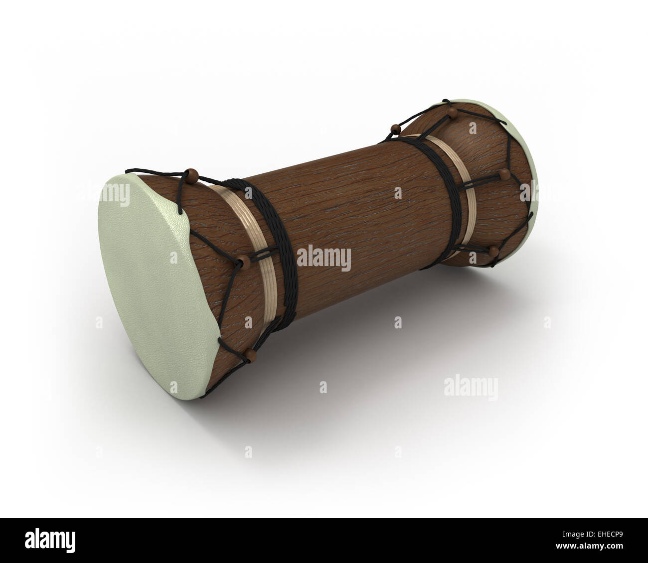 African talking drum in perspective - Stock Image