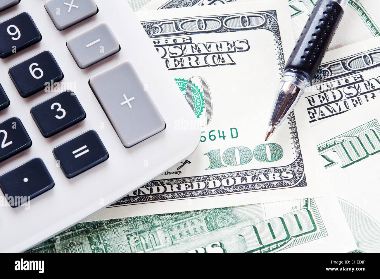 USD and calculator - Stock Image