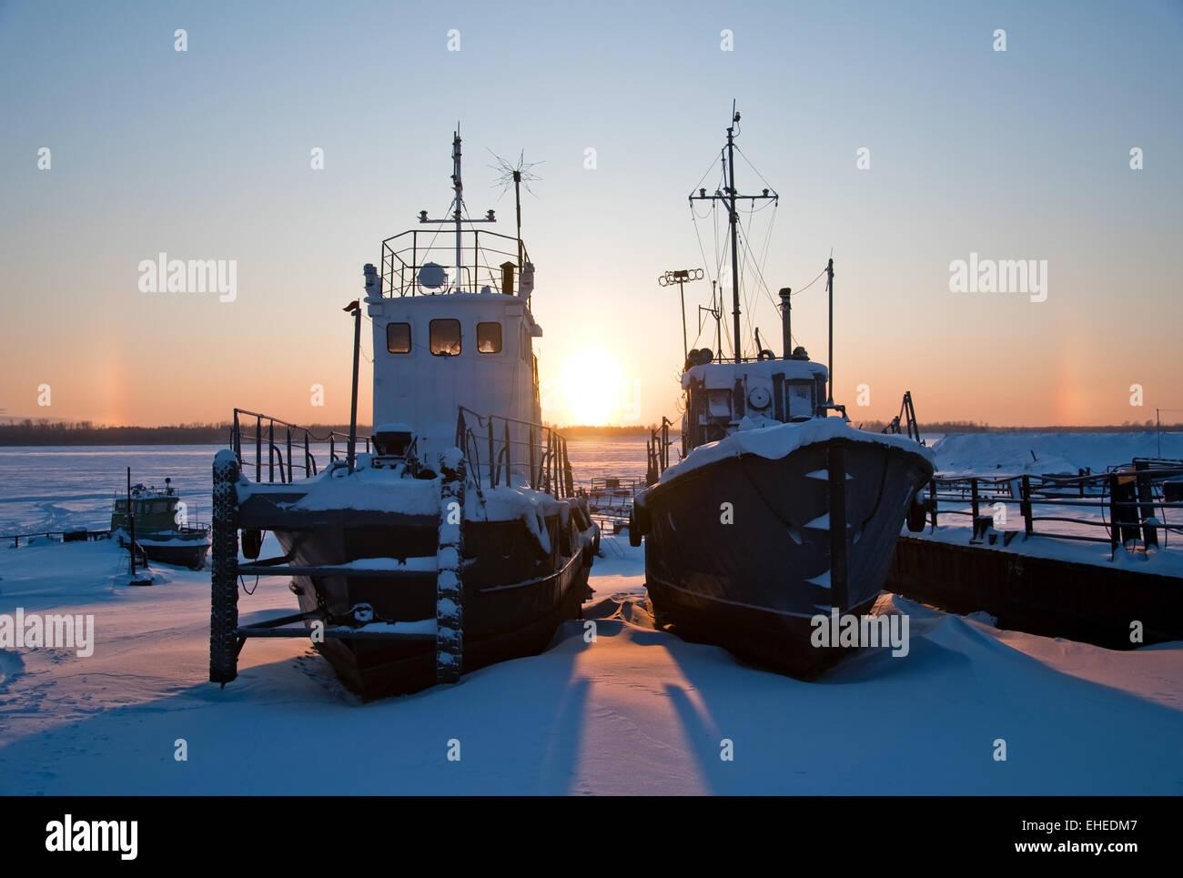 await  season of navigation. - Stock Image