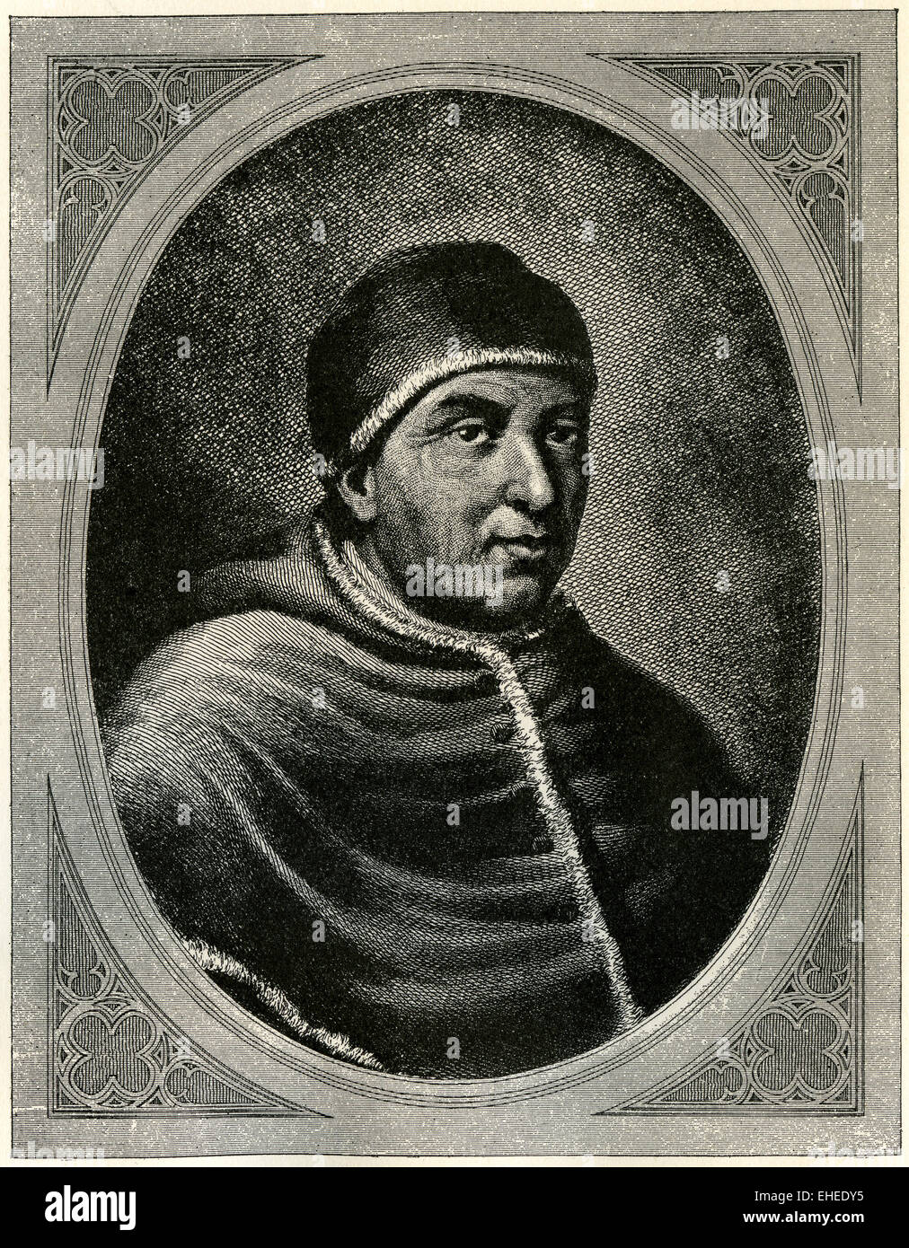 Pope Leo X, who reigned at the time of Martin Luther. - Stock Image