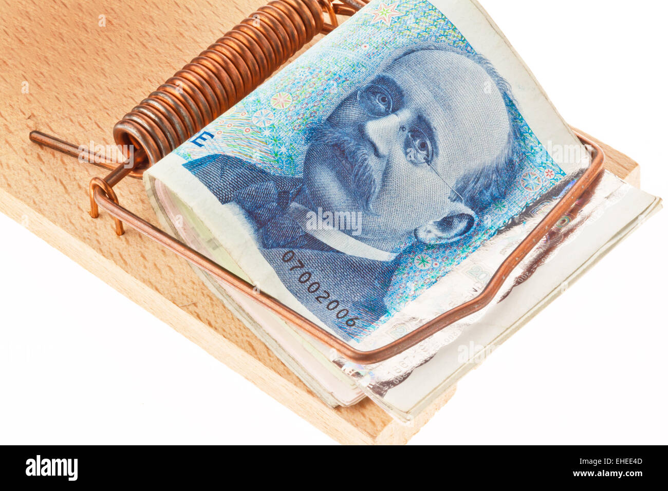 Norwegian currency Stock Photo