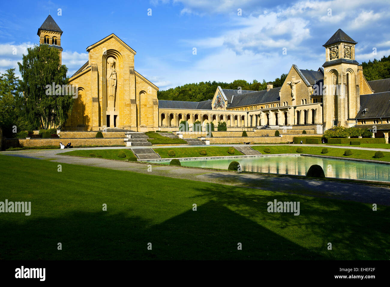 Orval Abbey, Ardennes, Belgium - Stock Image