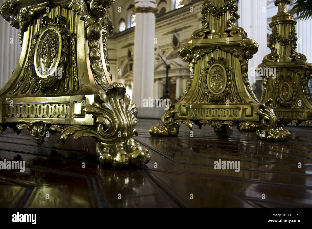 golden candleholder Stock Photo