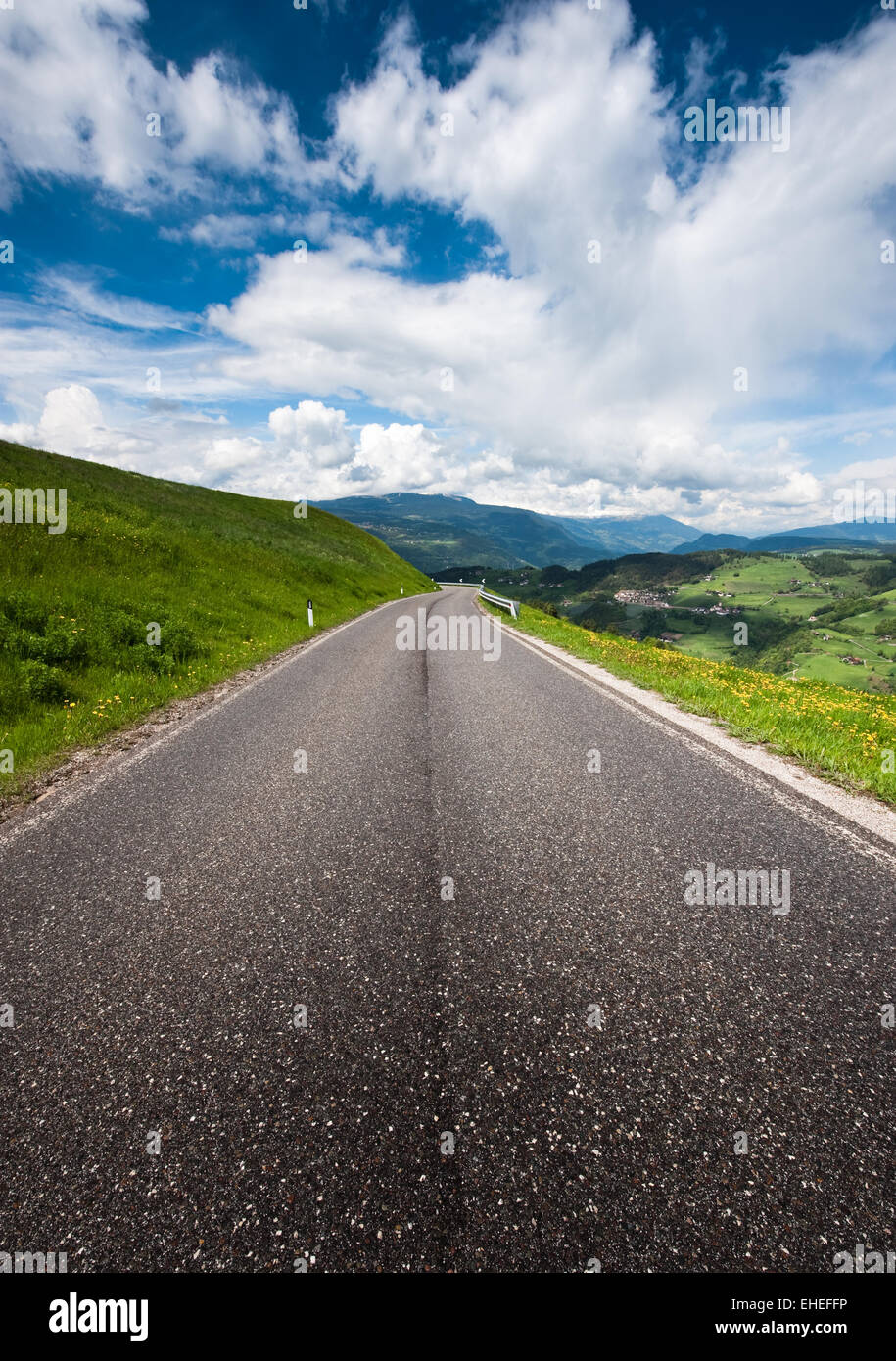 Country Road in the Alps - Stock Image