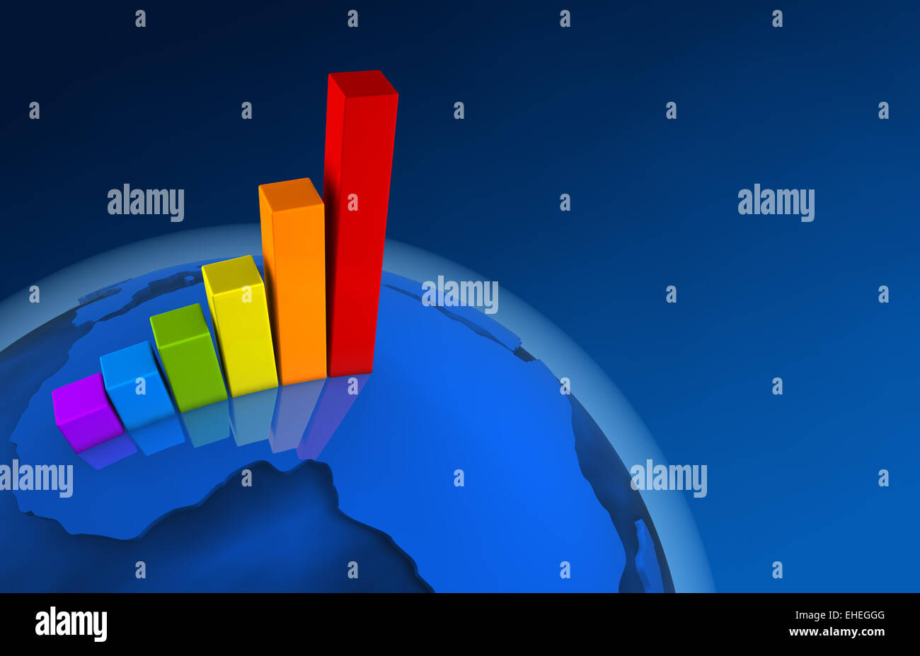 3d World Growth Chart Africa Stock Photo 79610960 Alamy