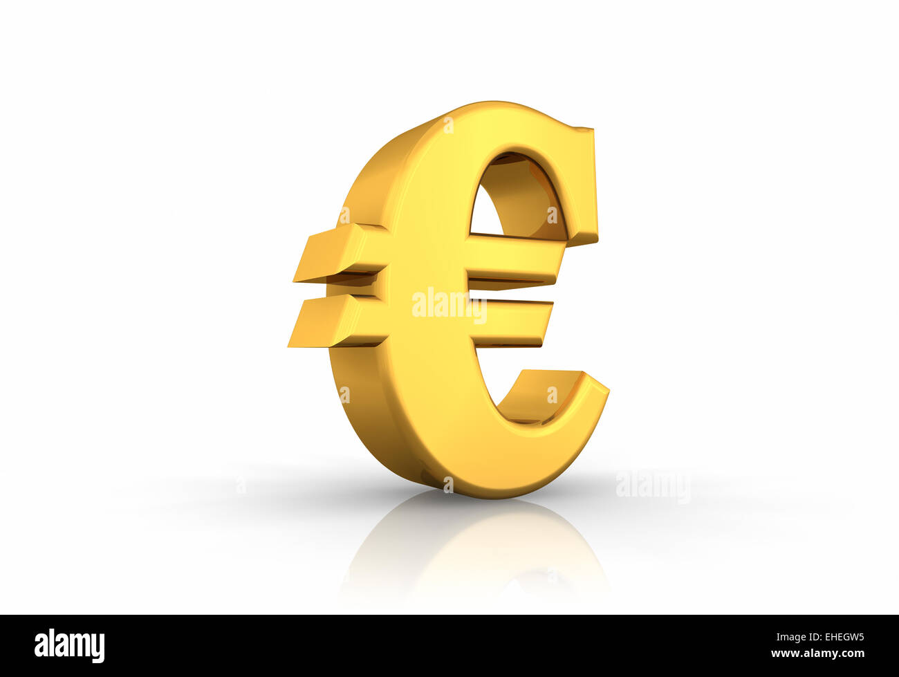 Gold Euro Sign - Stock Image