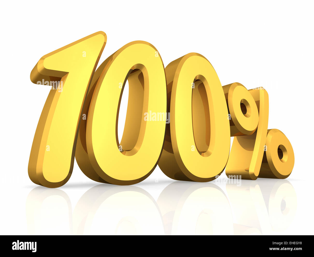 Gold Hundred Percent - Stock Image