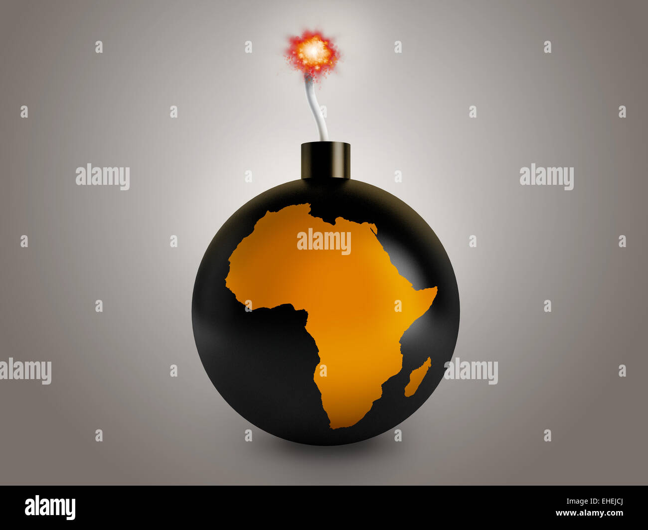 African's crisis - Stock Image