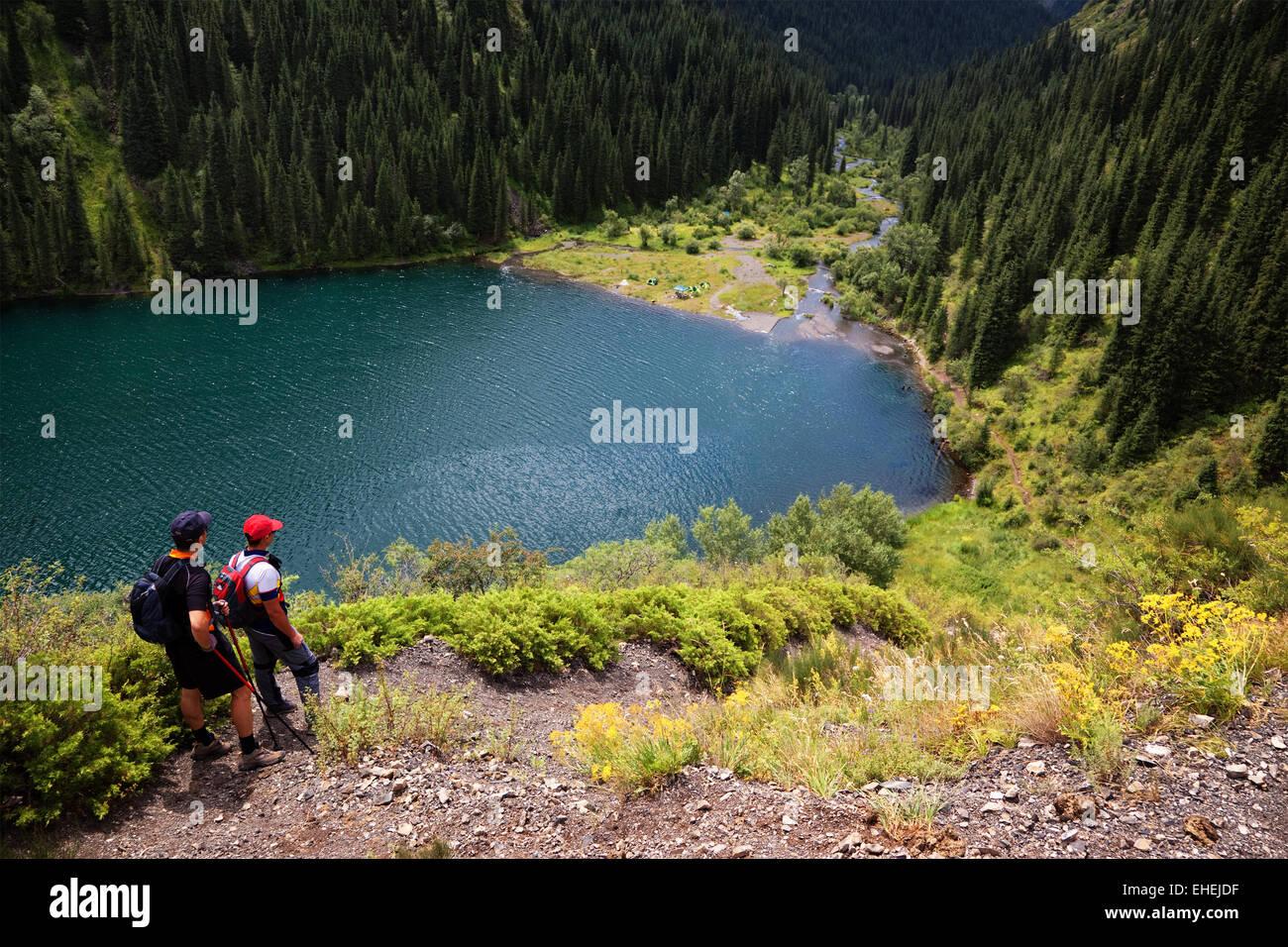 Kolsai lake, Kazakhstan - Stock Image