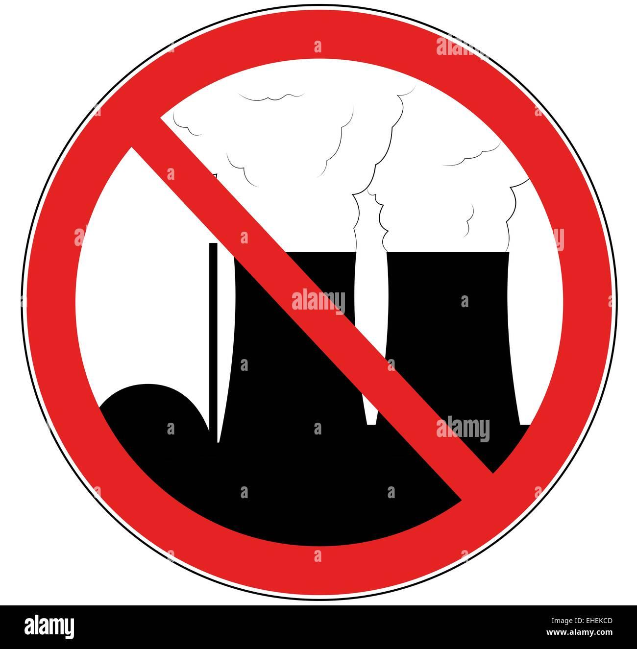 gegen Atomkraft - Stock Image