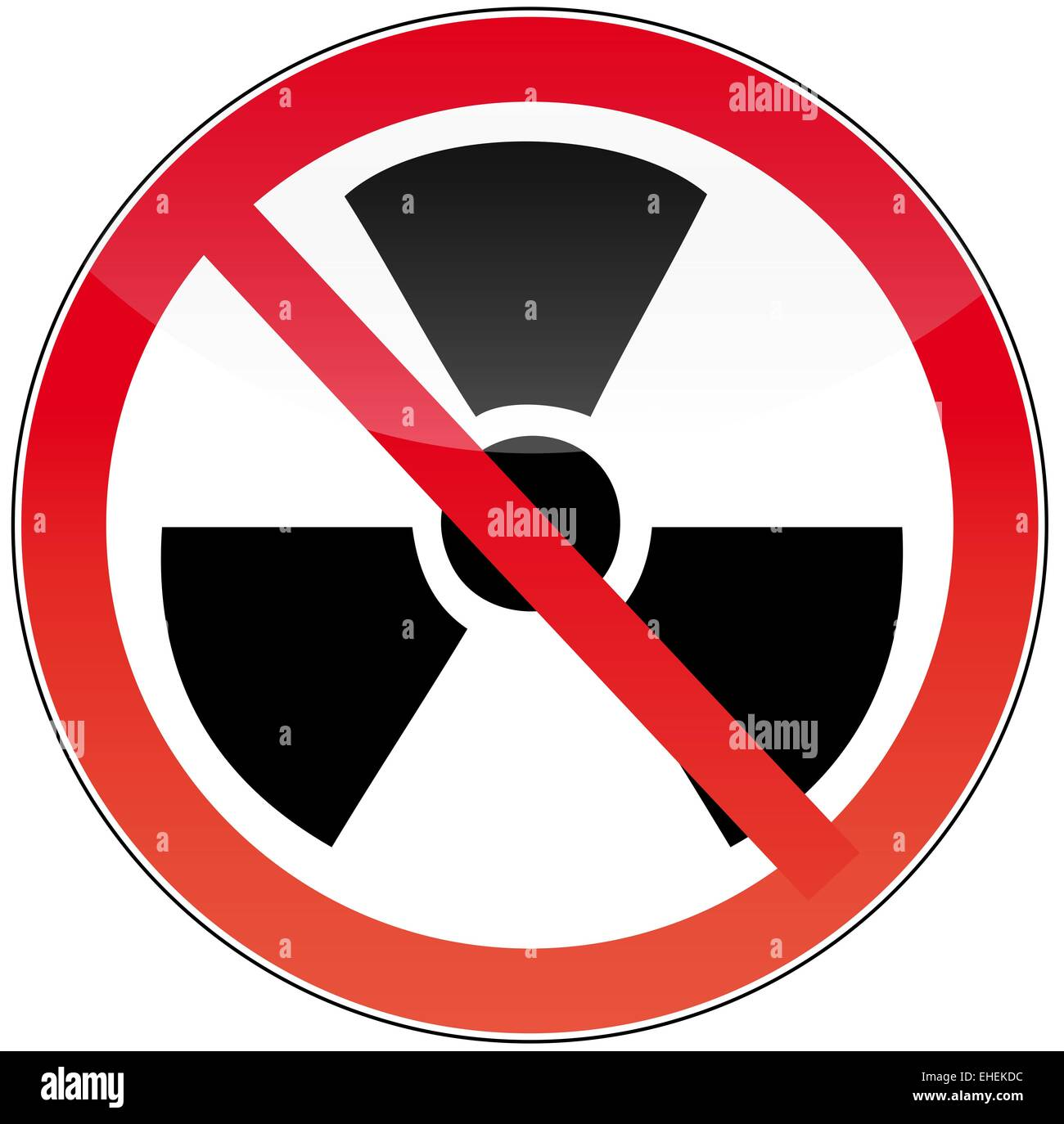 against nuclear power - Stock Image