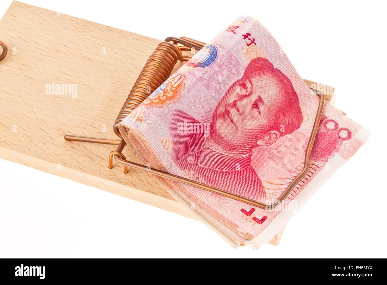 Chinese money Stock Photo