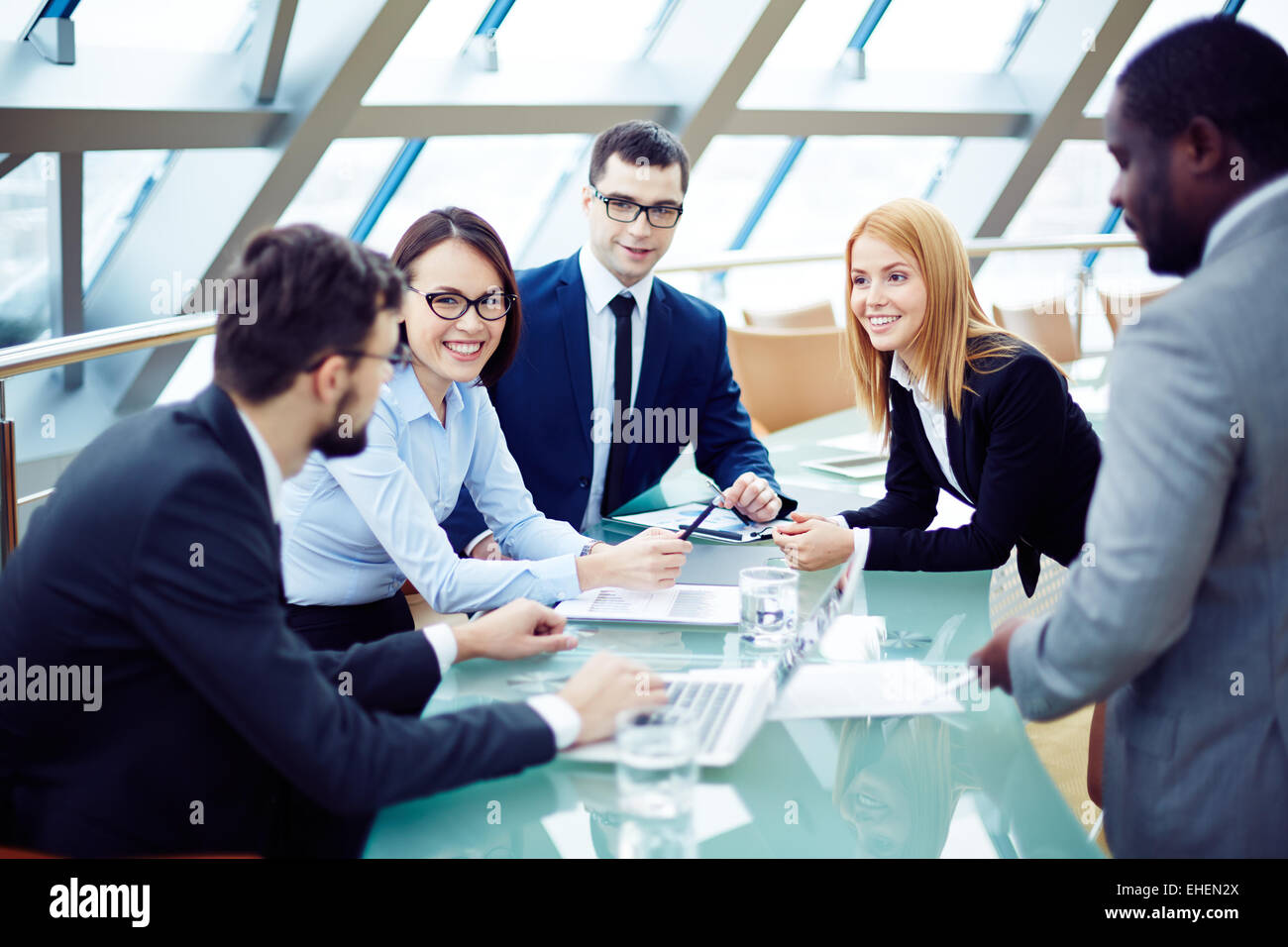 Group of business people planning together - Stock Image