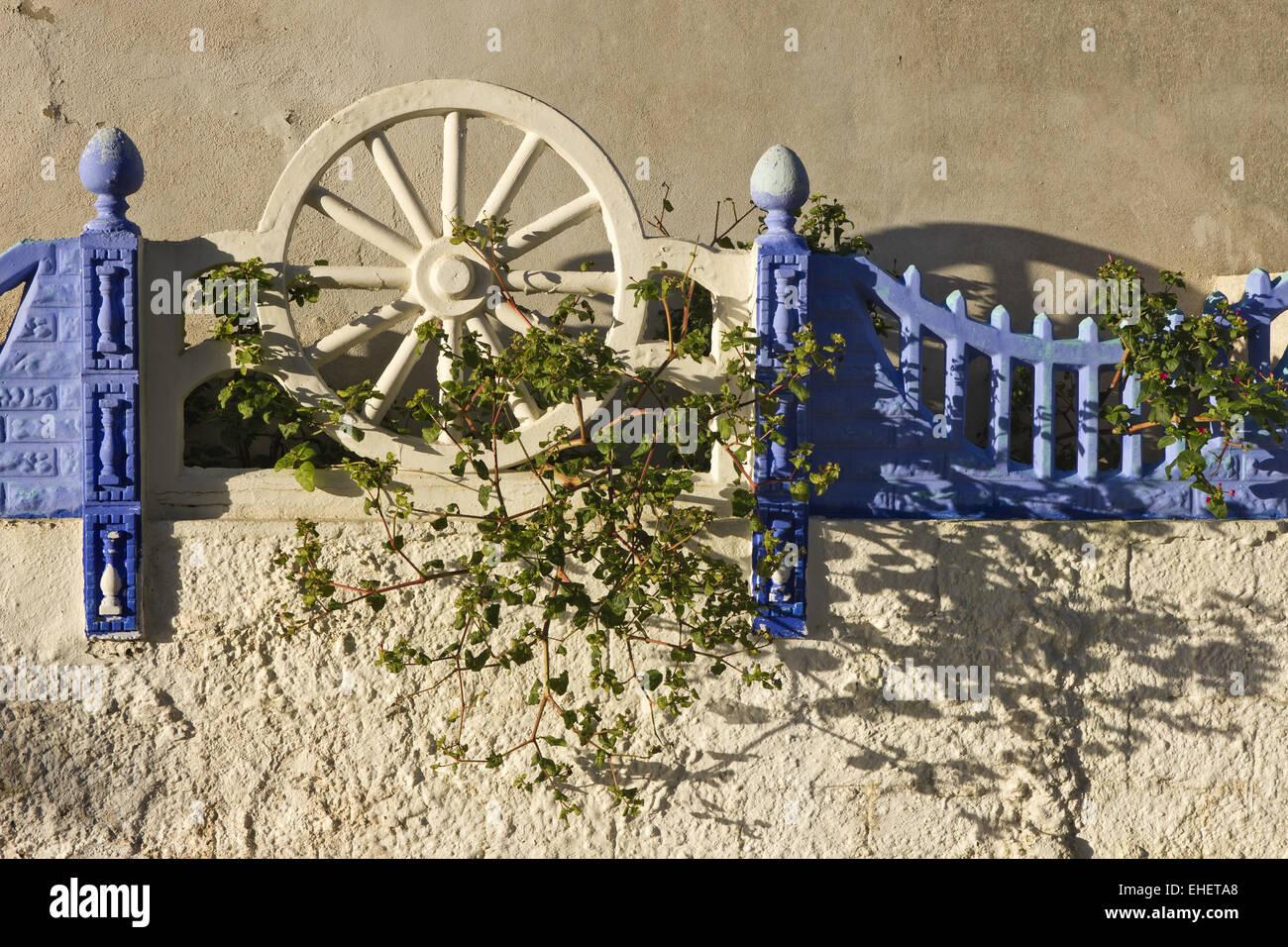 Decorative fence in Carvoeiro Stock Photo