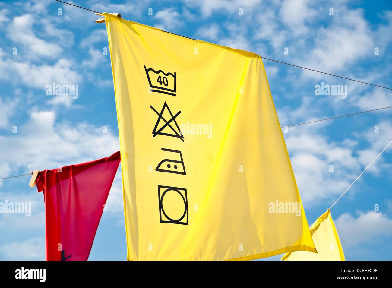 Colorful Washing Description - Stock Image