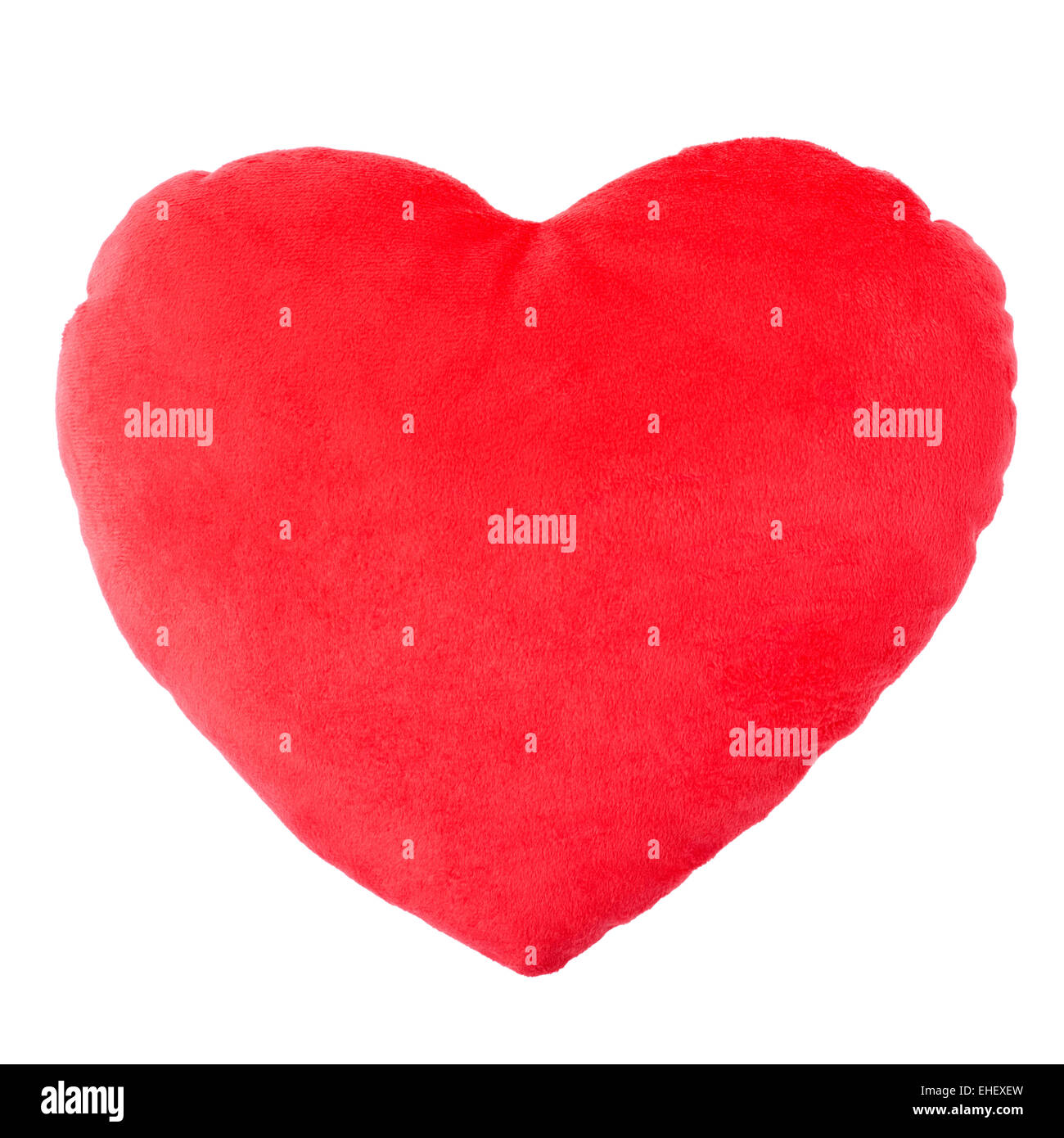 Heart red pillow, cushion - Stock Image