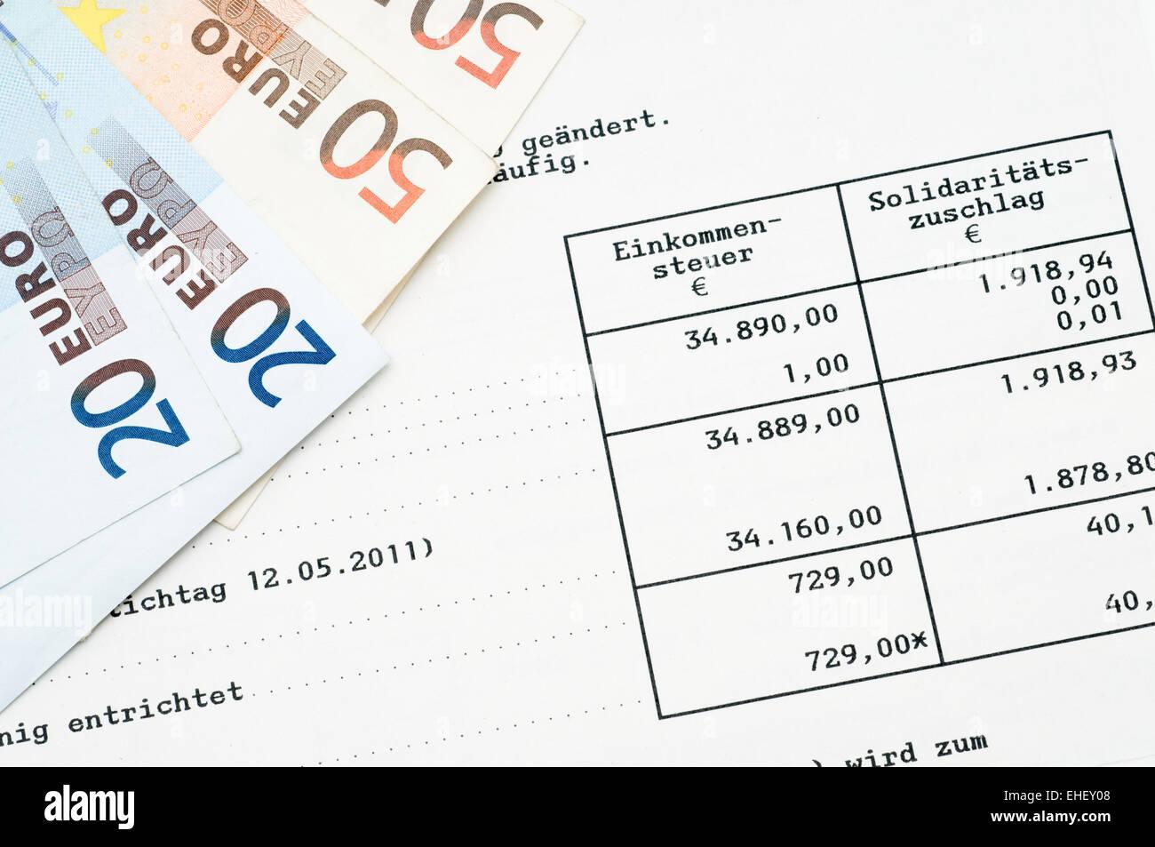 tax steuerbescheid