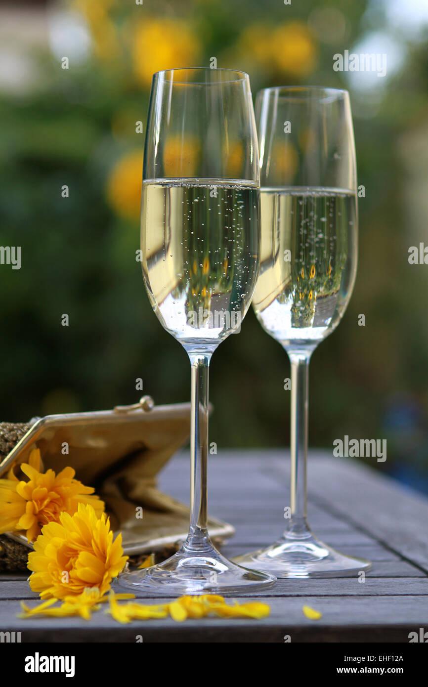 sparkling wine - Stock Image