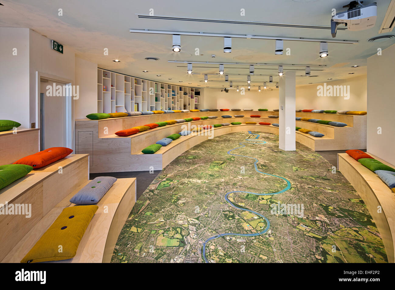 the agora large staff meeting room with map of london flooring not on the high street offices in richmond richmond united kin